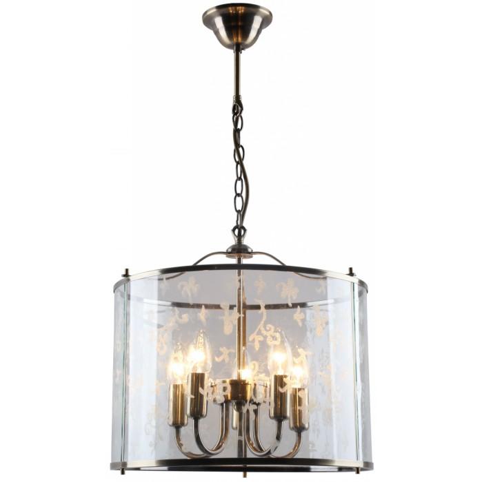 Светильник подвесной Arte lampСветильники подвесные<br>Количество ламп: 5,<br>Мощность: 60,<br>Назначение светильника: для комнаты,<br>Стиль светильника: модерн,<br>Материал светильника: металл, стекло,<br>Диаметр: 370,<br>Высота: 350,<br>Тип лампы: накаливания,<br>Патрон: Е14,<br>Цвет арматуры: бронза,<br>Вес нетто: 3.8<br>