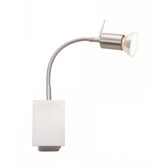 Спот GloboСпоты<br>Тип: спот,<br>Стиль светильника: хай-тек,<br>Материал светильника: металл,<br>Количество ламп: 1,<br>Тип лампы: галогенная,<br>Мощность: 50,<br>Патрон: GU10,<br>Цвет арматуры: хром,<br>Ширина: 60,<br>Длина (мм): 100,<br>Высота: 250,<br>Коллекция: grosetto<br>