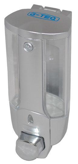 Диспенсер для жидкого мыла G-teqДиспенсеры<br>Назначение: для жидкого мыла,<br>Цвет покрытия: серый,<br>Материал: пластик,<br>Высота: 190,<br>Ширина: 80,<br>Глубина: 88,<br>Способ крепления: на стол<br>