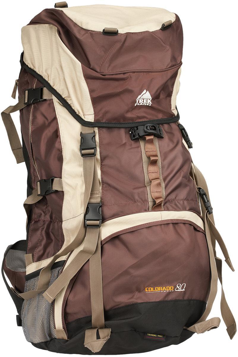 Рюкзак Trek planetРюкзаки<br>Назначение рюкзака: туристический,<br>Тип: рюкзак,<br>Объем: 80,<br>Вес нетто: 2.5,<br>Материал: полиамид,<br>Цвет: серый, черный, коричневый<br>
