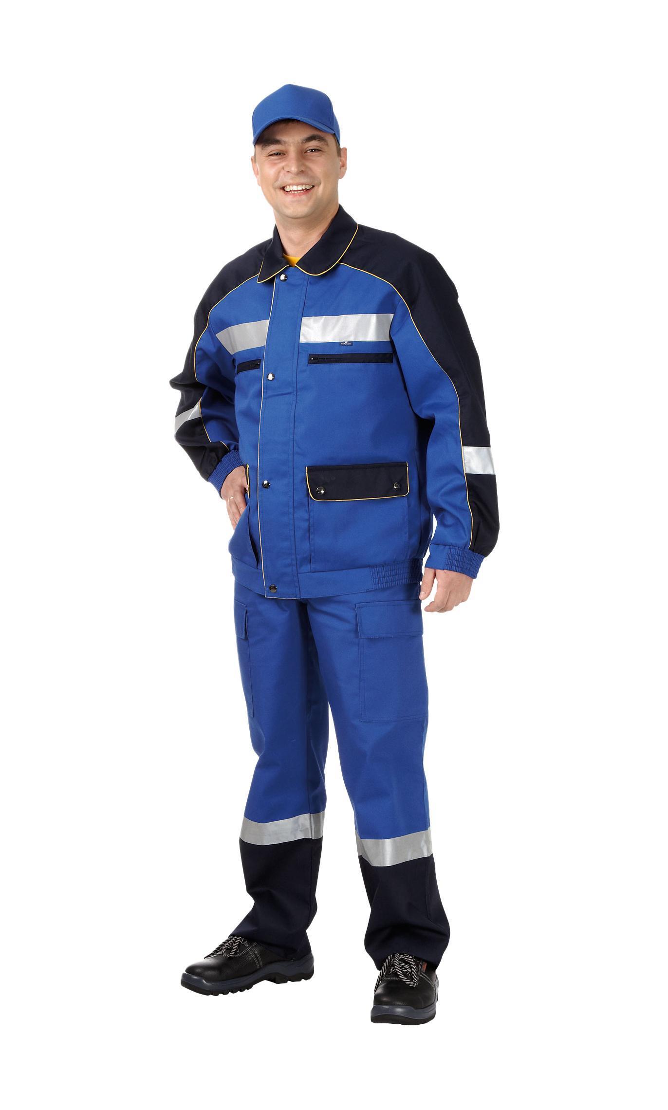 Костюм рабочий ТЕХНОАВИАКостюмы<br>Тип: куртка с полукомбинезоном,<br>Размер: 88-92/158-164,<br>Пол: мужской,<br>Материал: хлопок/полиэстер,<br>Плотность ткани: 250,<br>Цвет костюма: синий/желтый,<br>Водоотталкивающая пропитка: есть,<br>Светоотражающие вставки: есть<br>