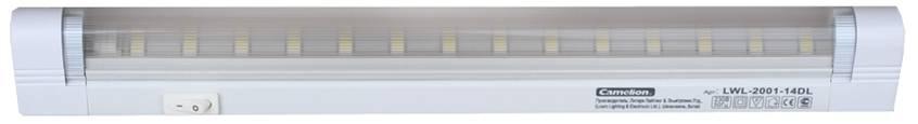 Светильник для производственных помещений CamelionСветильники офисные, промышленные<br>Назначение светильника: для производственных помещений,<br>Тип лампы: светодиодная,<br>Мощность: 3,<br>Количество ламп: 14,<br>Патрон: LED,<br>Степень защиты от пыли и влаги: IP 20,<br>Цвет: белый,<br>Вес нетто: 0.2<br>