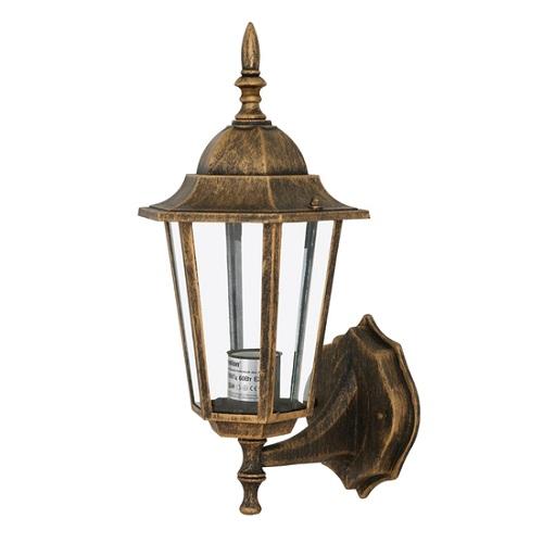 Светильник уличный настенный CamelionСветильники уличные<br>Мощность: 60,<br>Тип установки: настенный,<br>Стиль светильника: классика,<br>Материал светильника: металл,<br>Количество ламп: 1,<br>Тип лампы: светодиодная,<br>Патрон: LED,<br>Цвет арматуры: бронза,<br>Ширина: 195,<br>Высота: 245<br>