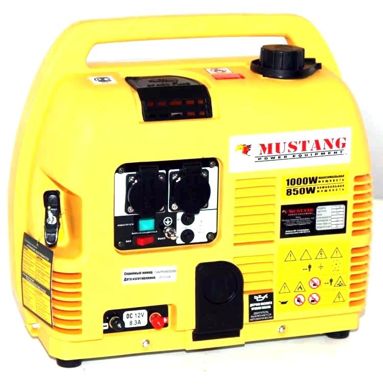 Бензиновый генератор Mustang - MustangГенераторы (электростанции)<br>Полная мощность: 1,<br>Мощность активная: 0.8,<br>Напряжение: 230,<br>Бак: 4.2,<br>Вид топлива: бензин,<br>Тип стартера: ручной,<br>Размеры: 0.460х0.320х0.500<br>