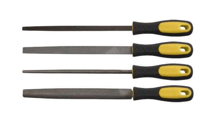 Набор напильников по металлу FitНапильники<br>Материал: металл,<br>Форма напильника: плоский,<br>Длина (мм): 200,<br>Рашпиль: есть,<br>Набор: есть<br>