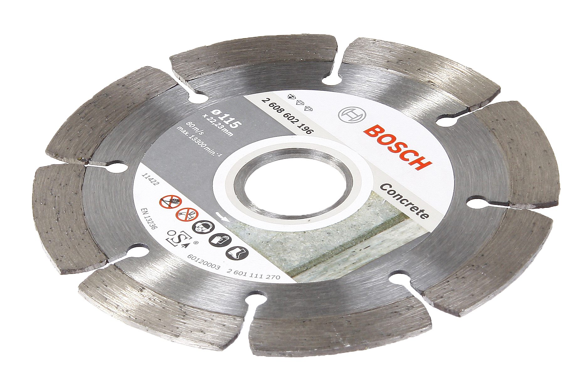 Фото 2/2 Standard for concrete 150 Х 22,2 сегмент, Круг алмазный