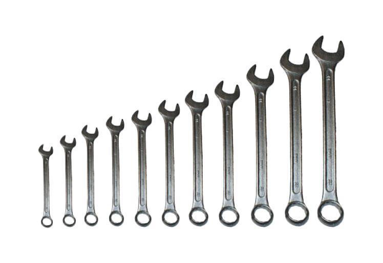 Набор ключей FitКлючи гаечные<br>Тип: комбинированный, Размер ключа максимальный: 17, Набор: есть, Ключей в наборе: 12<br>