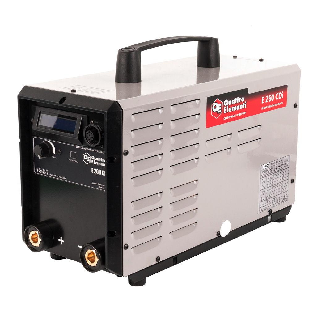 Сварочный аппарат Quattro elementiСварочное оборудование<br>Макс. сварочный ток: 250,<br>Напряжение: 380,<br>Мин. входное напряжение: 340,<br>Мин. диаметр электрода: 1.6,<br>Макс. диаметр электрода: 6,<br>Тип сварочного аппарата: инверторный,<br>Тип сварки: дуговая (MMA+TIG),<br>Инверторная технология: есть,<br>Три фазы: есть,<br>Класс: проф.,<br>Режим работы ПН %: 100,<br>Вес нетто: 13<br>