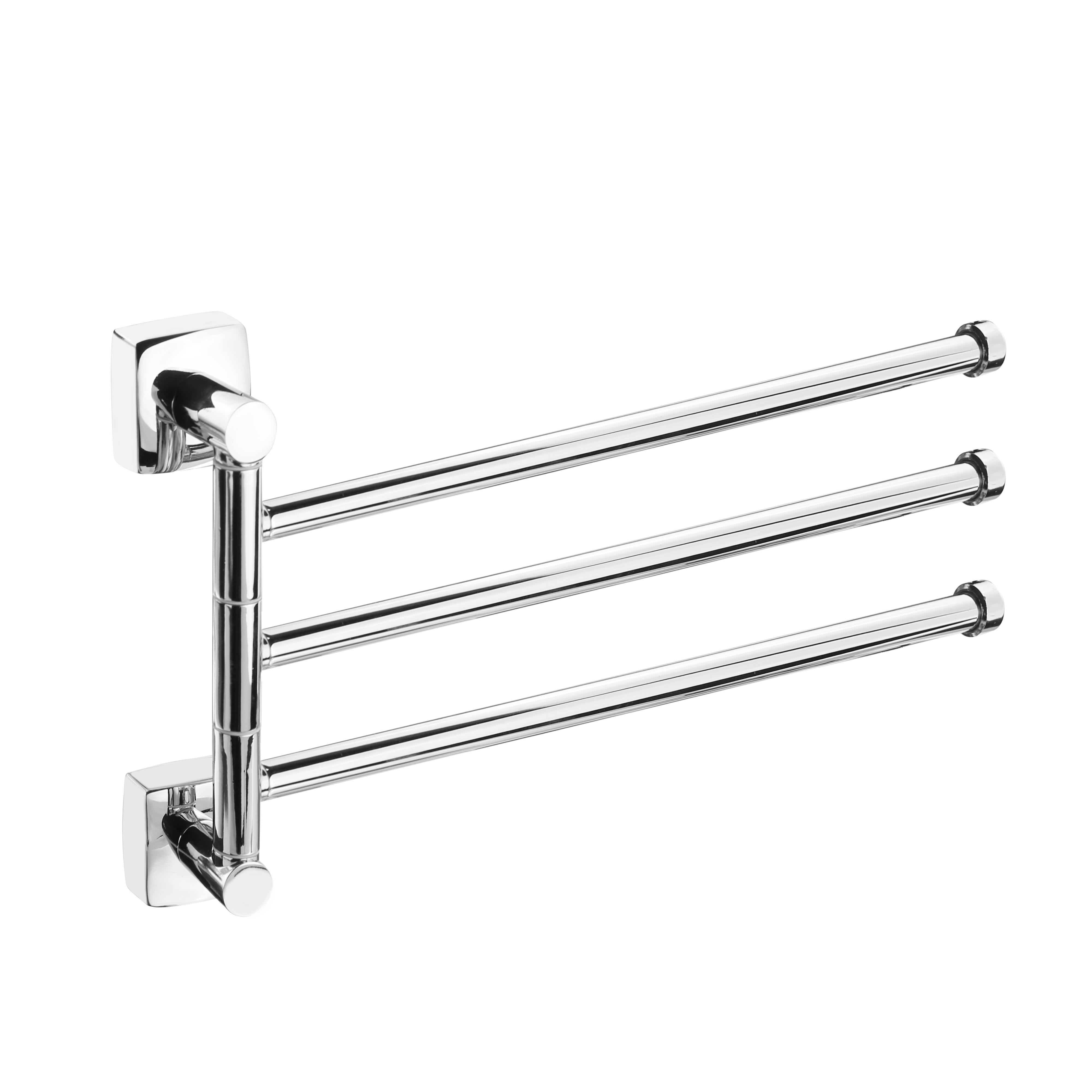 Держатель для полотенец ForaДержатели для ванной комнаты<br>Назначение: для полотенца,<br>Цвет покрытия: хром,<br>Материал: металл,<br>Способ крепления: на стену,<br>Высота: 190,<br>Ширина: 50,<br>Глубина: 360<br>