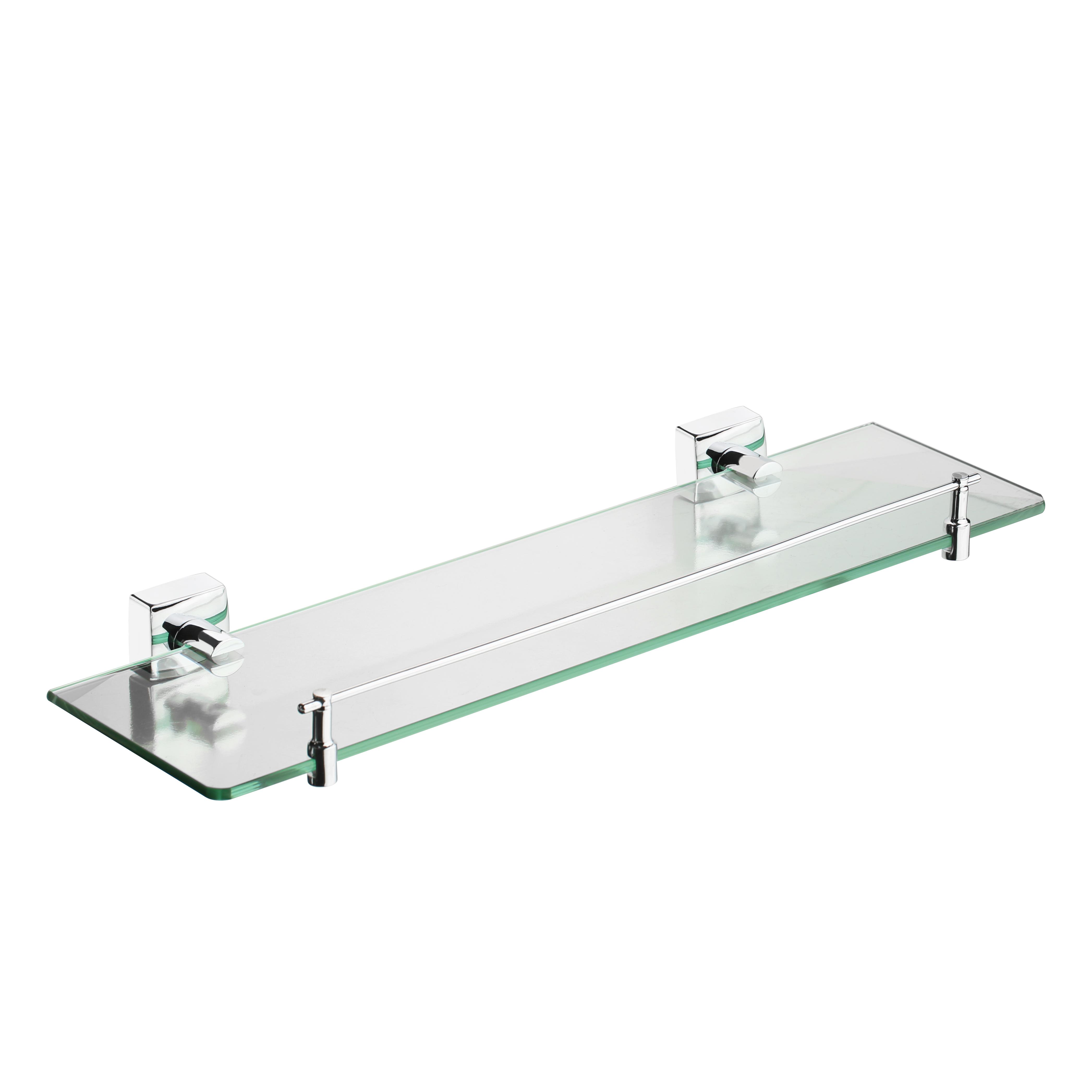 Полка для ванной комнаты ForaАксессуары для ванной комнаты<br>Назначение аксессуара: полка,<br>Цвет покрытия: хром,<br>Материал: металл,<br>Высота: 50,<br>Ширина: 500,<br>Глубина: 150<br>