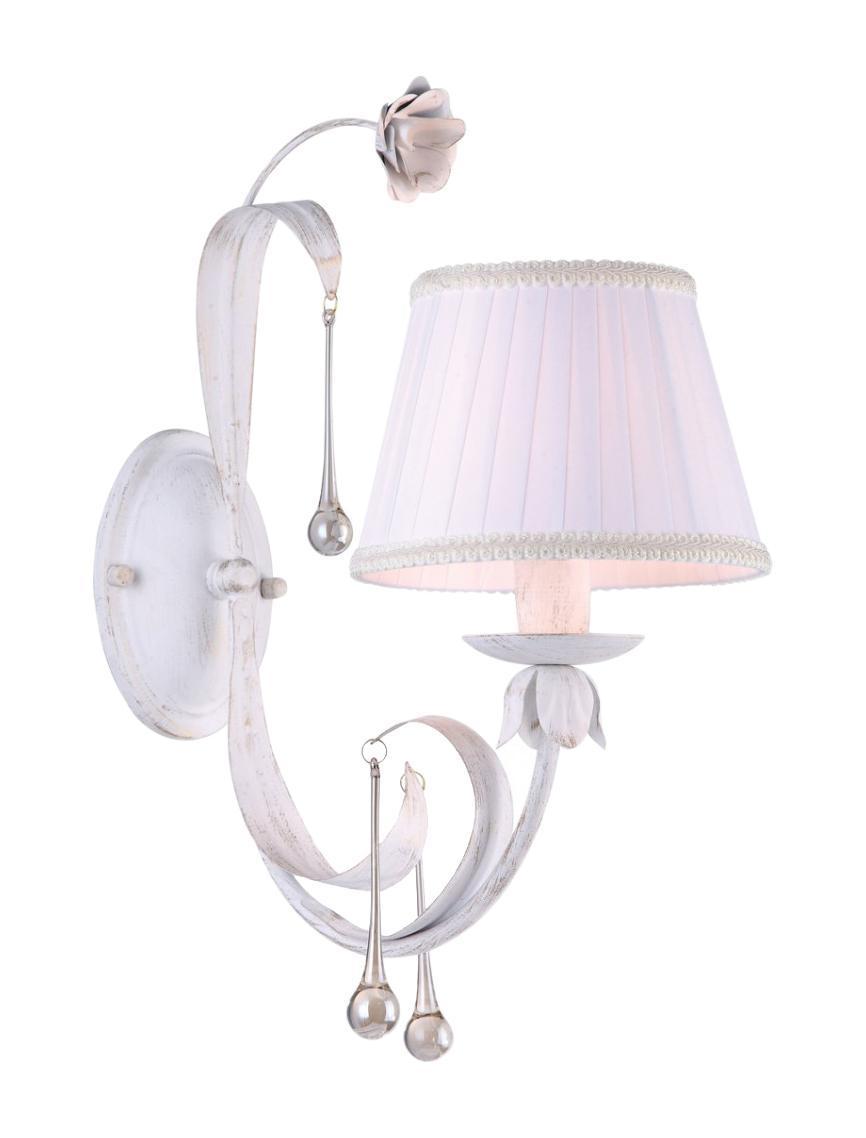 Бра Arte lampНастенные светильники и бра<br>Тип: бра,<br>Назначение светильника: для комнаты,<br>Стиль светильника: флористика,<br>Материал светильника: металл,<br>Тип лампы: накаливания,<br>Количество ламп: 1,<br>Мощность: 40,<br>Патрон: Е14,<br>Цвет арматуры: белый,<br>Ширина: 390,<br>Высота: 450,<br>Удаление от стены: 200<br>