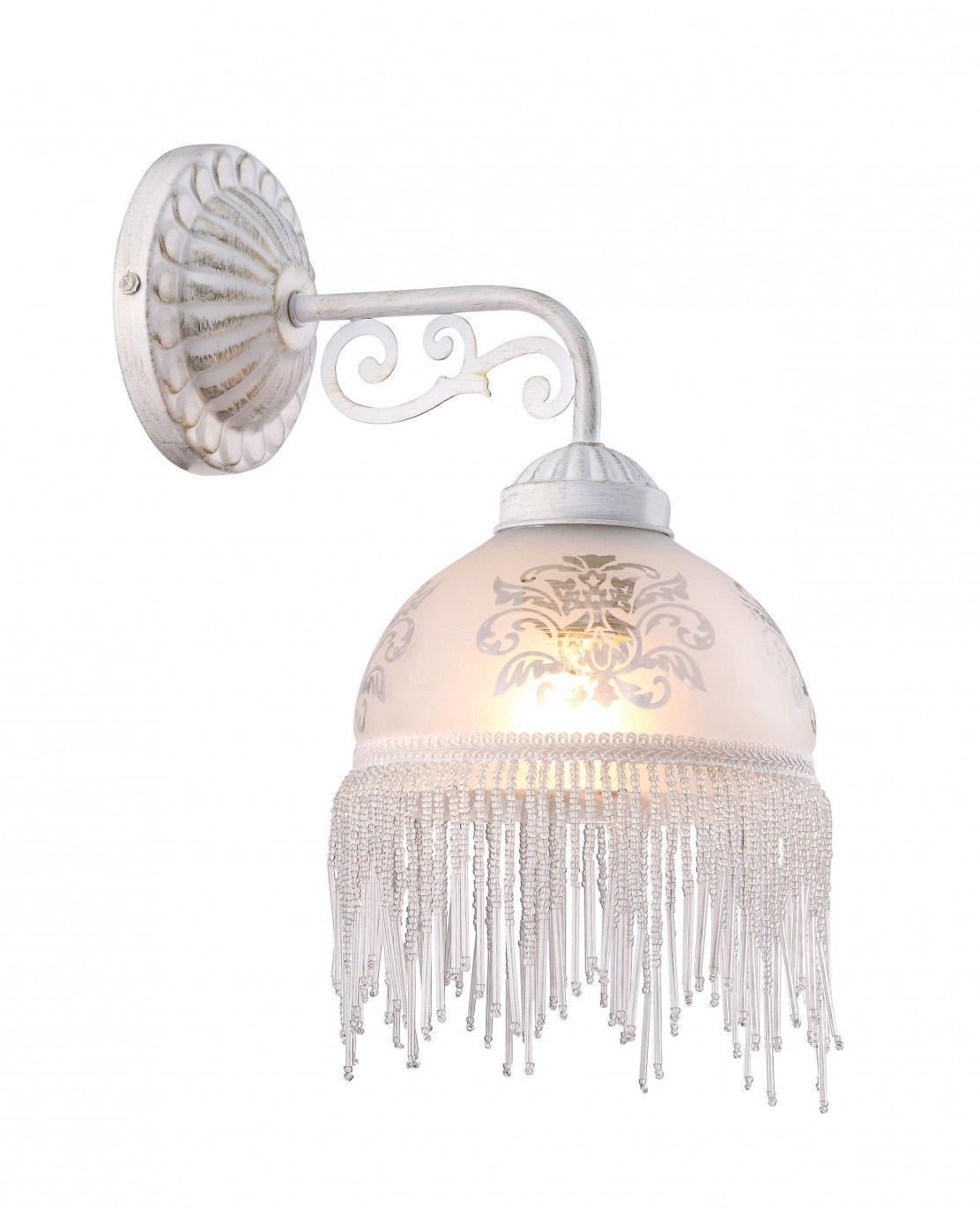 Бра Arte lampНастенные светильники и бра<br>Тип: бра,<br>Назначение светильника: для комнаты,<br>Стиль светильника: классика,<br>Материал светильника: металл,<br>Тип лампы: накаливания,<br>Количество ламп: 1,<br>Мощность: 40,<br>Патрон: Е27,<br>Цвет арматуры: белый,<br>Ширина: 160,<br>Высота: 320,<br>Удаление от стены: 240,<br>Коллекция: 9560<br>