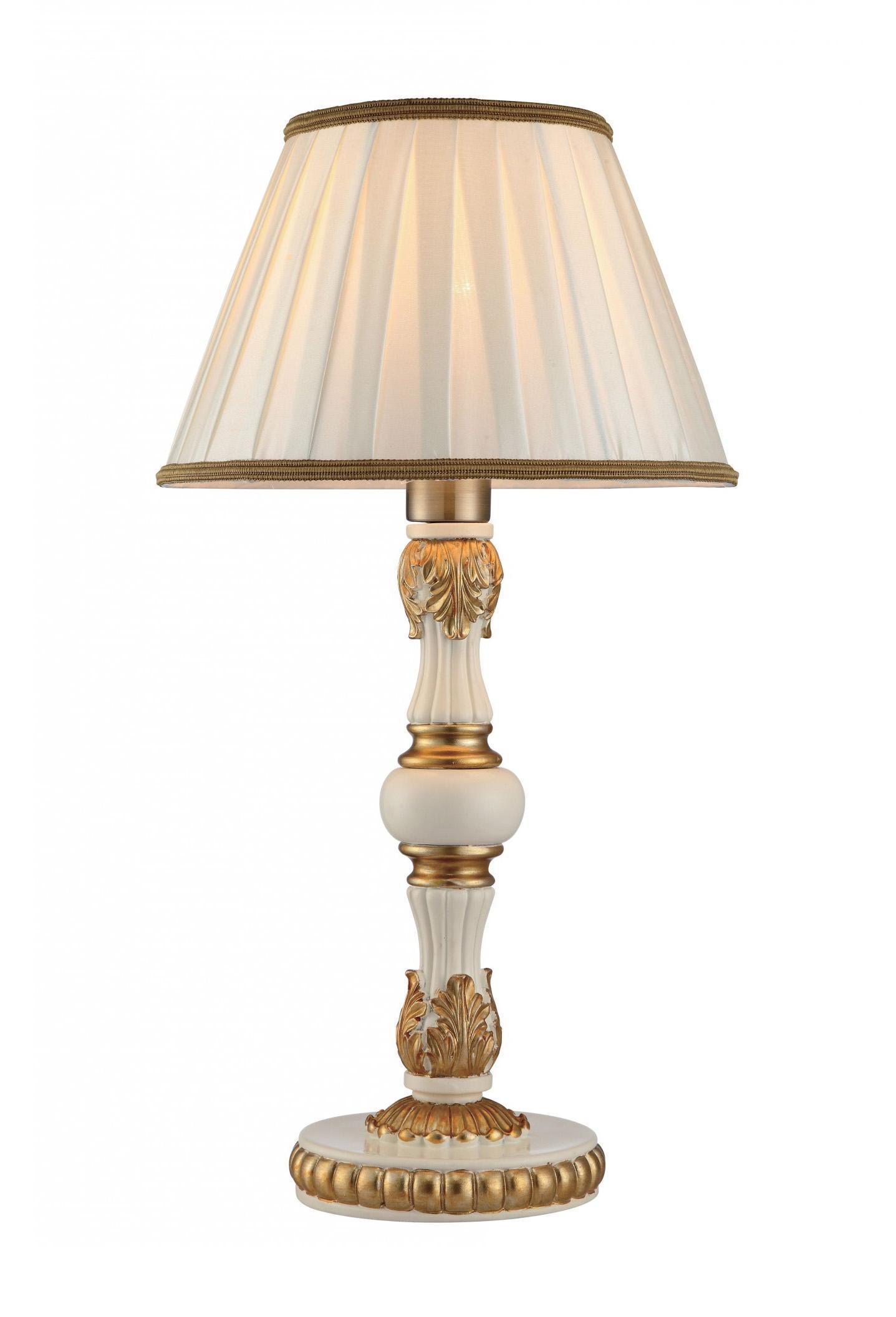 Лампа настольная Arte lampЛампы настольные<br>Тип настольной лампы: декоративная,<br>Назначение светильника: для комнаты,<br>Стиль светильника: классика,<br>Диаметр: 280,<br>Высота: 520,<br>Количество ламп: 1,<br>Тип лампы: накаливания,<br>Мощность: 40,<br>Патрон: Е27,<br>Цвет арматуры: белый,<br>Коллекция: 9570<br>