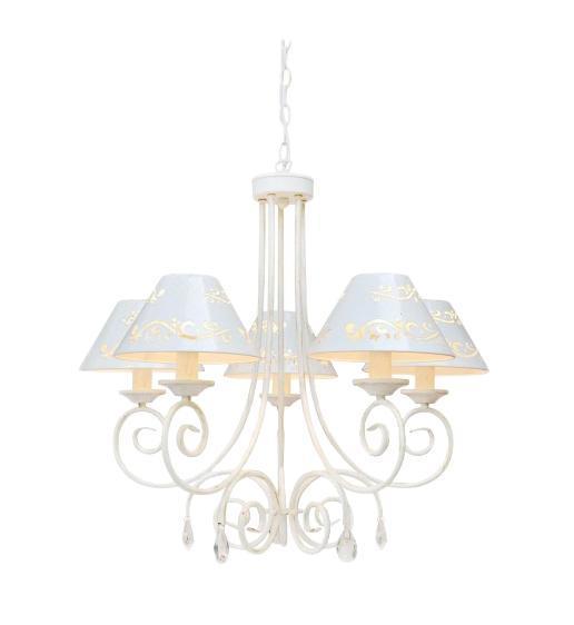 Люстра Arte lampЛюстры<br>Назначение светильника: для гостиной,<br>Стиль светильника: модерн,<br>Тип: подвесная,<br>Материал светильника: металл, стекло,<br>Материал плафона: металл,<br>Материал арматуры: металл,<br>Диаметр: 700,<br>Высота: 630,<br>Количество ламп: 5,<br>Тип лампы: накаливания,<br>Мощность: 200,<br>Патрон: Е14,<br>Цвет арматуры: белый<br>