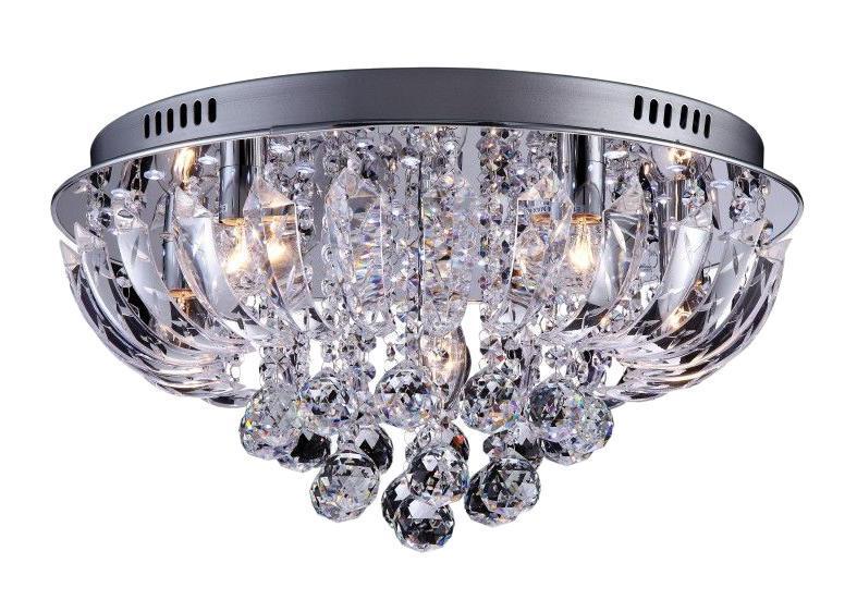 Люстра Arte lampЛюстры<br>Назначение светильника: для гостиной,<br>Стиль светильника: модерн,<br>Тип: потолочная,<br>Материал светильника: металл, стекло,<br>Материал арматуры: металл,<br>Диаметр: 500,<br>Высота: 250,<br>Количество ламп: 6,<br>Тип лампы: накаливания,<br>Мощность: 240,<br>Патрон: Е14,<br>Пульт ДУ: есть,<br>Цвет арматуры: серебро<br>