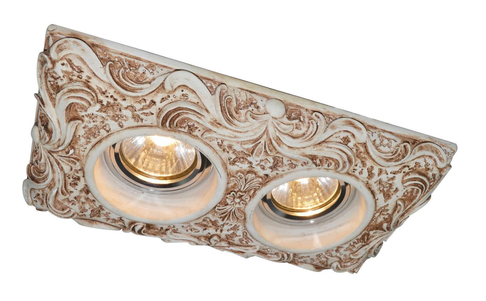 Светильник встраиваемый Arte lampСветильники встраиваемые<br>Стиль светильника: модерн,<br>Диаметр: 125,<br>Форма светильника: прямоугольник,<br>Материал светильника: металл,<br>Количество ламп: 2,<br>Тип лампы: накаливания,<br>Мощность: 100,<br>Патрон: GU10,<br>Цвет арматуры: белый,<br>Назначение светильника: для комнаты,<br>Коллекция: 5208<br>