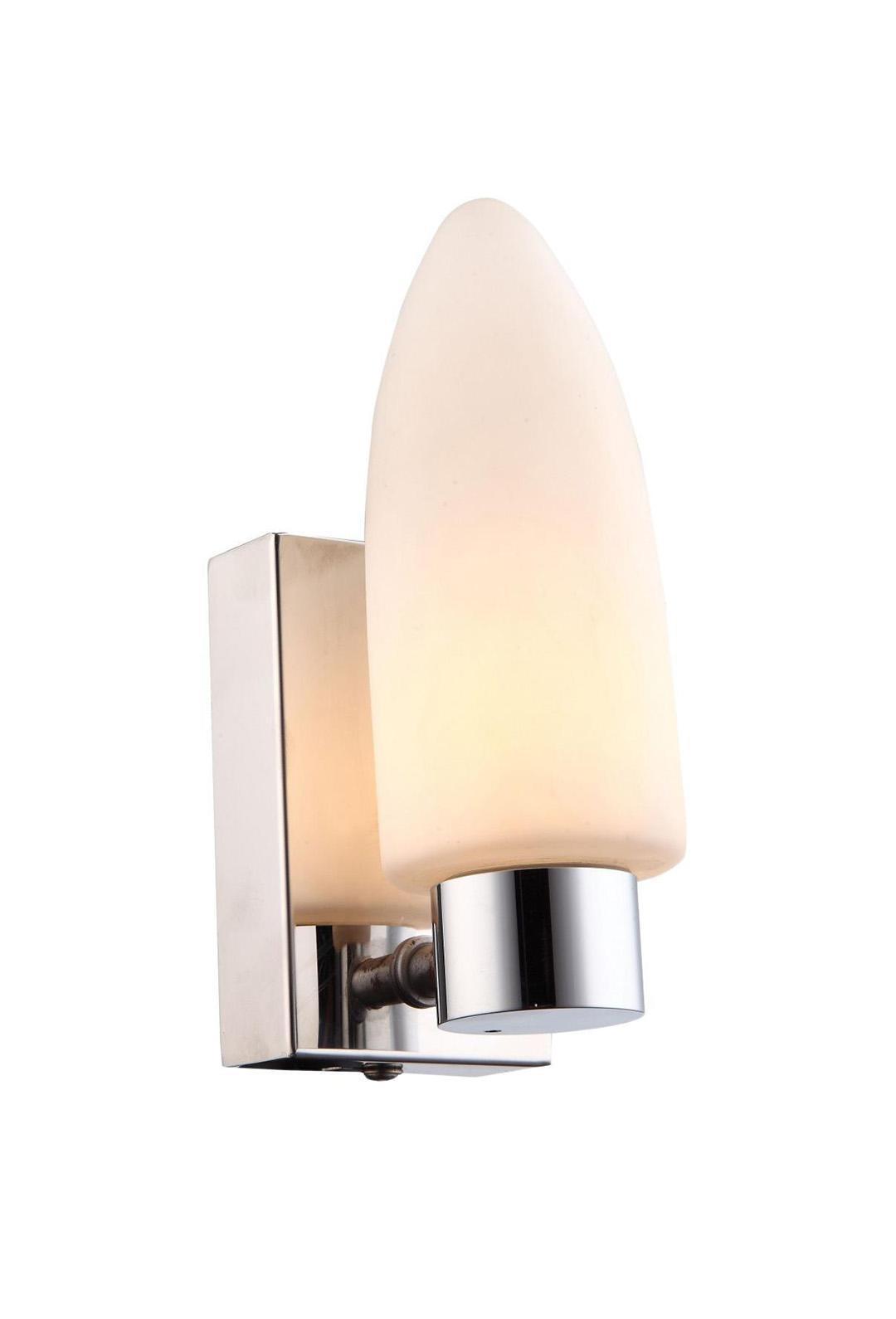 Светильник для ванной комнаты Arte lampСветильники для ванных комнат<br>Стиль светильника: модерн,<br>Назначение светильника: для ванной комнаты,<br>Материал светильника: стекло,<br>Ширина: 100,<br>Высота: 160,<br>Мощность: 33,<br>Количество ламп: 1,<br>Тип лампы: накаливания,<br>Патрон: G9,<br>Цвет арматуры: хром,<br>Вес нетто: 0.4<br>