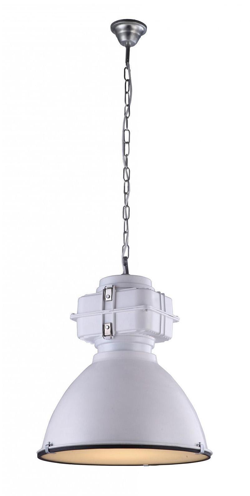 Светильник подвесной Arte lampСветильники подвесные<br>Количество ламп: 1, Мощность: 60, Назначение светильника: для комнаты, Стиль светильника: модерн, Материал светильника: металл, Диаметр: 480, Высота: 1520, Тип лампы: накаливания, Патрон: Е14, Цвет арматуры: белый, Вес нетто: 4.8, Коллекция: 5014<br>