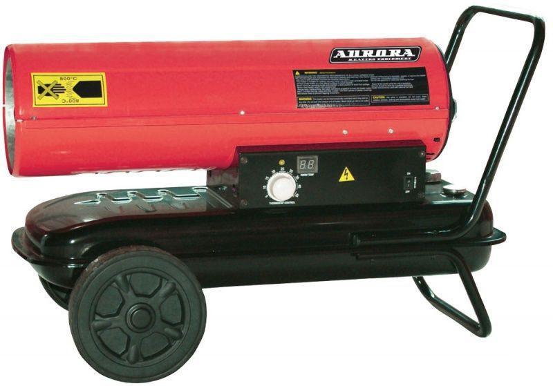 Дизельная тепловая пушка AuroraТепловые пушки и нагреватели (промышленные)<br>Тип тепловой пушки: дизельные, Мощность: 34000, Способ нагрева: прямой, Напряжение: 220, Производительность (м3/ч): 600, Мобильность: передвижной, Расход топлива: 3.31, Регулировка подачи топлива: есть, Бак: 32, Защита от перегрева: есть, Вес нетто: 22.5<br>