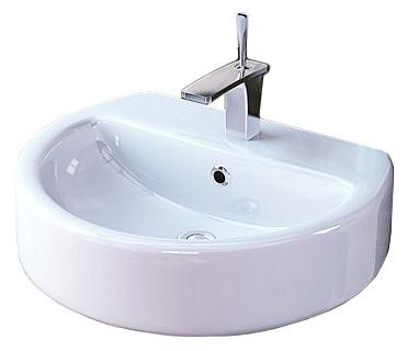 Раковина для ванной Sanita luxeРаковины (умывальники)<br>Тип: раковина,<br>Назначение умывальника(раковины): для ванной,<br>Ширина: 550,<br>Глубина: 445,<br>Форма раковины: полукруглая,<br>Цвет: белый,<br>Отверстие под смеситель: да,<br>Материал: керамика,<br>Тип установки раковины: подвесной,<br>Вес нетто: 5,<br>Коллекция: best<br>