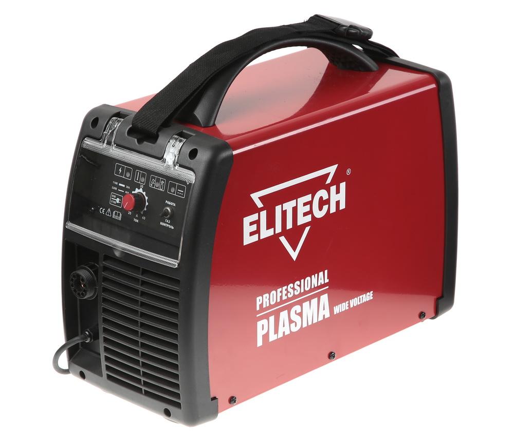 Аппарат плазменной резки ElitechСварочное оборудование<br>Макс. сварочный ток: 40,<br>Мощность: 4600,<br>Мощность полная: 4600,<br>Напряжение: 220,<br>Мин. входное напряжение: 110,<br>Выходной ток: 20-40,<br>Тип сварочного аппарата: инверторный,<br>Тип сварки: резка (CUT),<br>Инверторная технология: есть,<br>Плазменная резка: есть,<br>Толщина реза: 25,<br>Размеры: 475x214x396,<br>Степень защиты от пыли и влаги: IP 23S,<br>Класс: бытовой,<br>Режим работы ПН %: 35,<br>Вес нетто: 12.6<br>