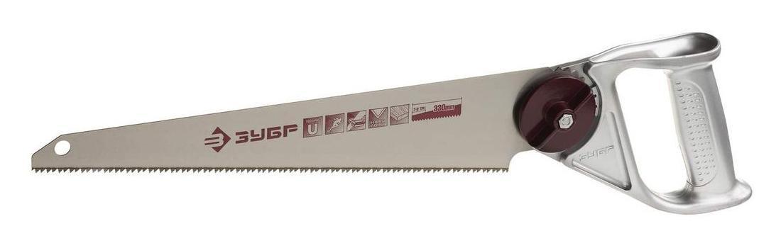 Ножовка ЗУБРНожовки ручные<br>Длина (мм): 330,<br>Назначение: дерево,<br>Тип ножовки: ножовка<br>