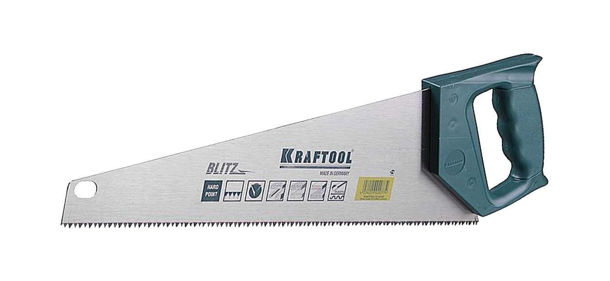 Ножовка KraftoolНожовки ручные<br>Длина (мм): 500, Назначение: дерево, Тип ножовки: ножовка, Вес нетто: 0.4<br>