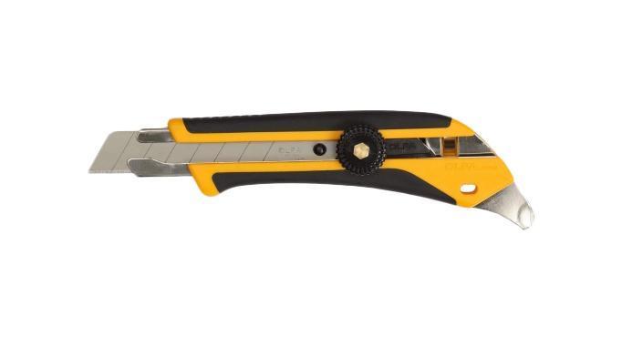 Нож строительный OlfaНожи ручные<br>Тип: нож,<br>Тип ножа: с сегментным лезвием,<br>Ширина лезвия: 18,<br>Материал рукоятки: пластик<br>