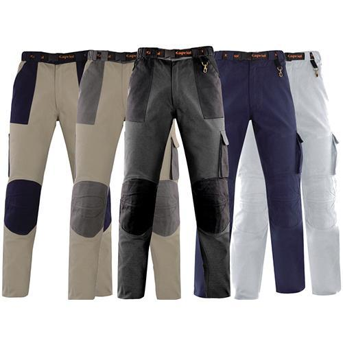 Брюки рабочие KapriolБрюки<br>Тип: брюки,<br>Пол: мужской,<br>Размер: 52-54,<br>Сезон: 4 сезона,<br>Цвет: серый/черный,<br>Материал: хлопок,<br>Количество карманов: 5,<br>Плотность ткани: 290,<br>Страна происхождения: Италия<br>
