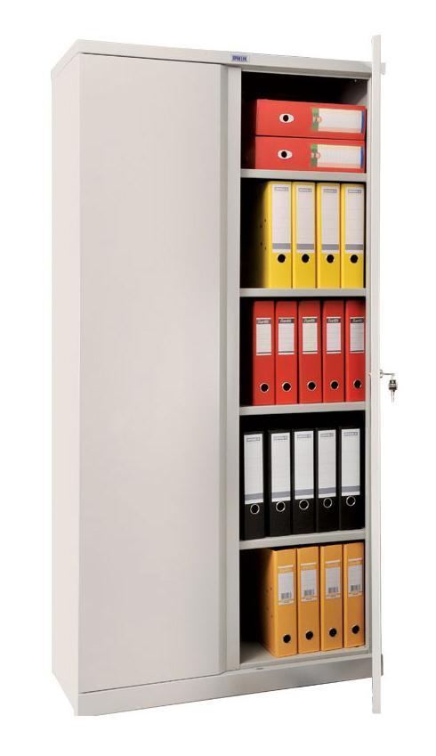 Шкаф ПРАКТИКШкафы<br>Цвет: серый,<br>Ширина: 915,<br>Высота: 1830,<br>Глубина: 370,<br>Вес нетто: 45<br>