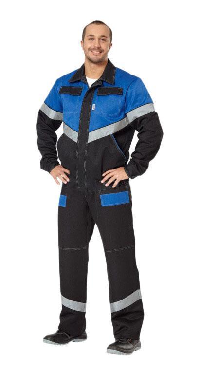 Костюм рабочий АВАНГАРД-СПЕЦОДЕЖДАКостюмы<br>Тип: куртка с полукомбинезоном,<br>Размер: 88-92/170-176,<br>Пол: мужской,<br>Сезон: 4 сезона,<br>Материал: смесовая ткань,<br>Плотность ткани: 210,<br>Цвет костюма: черный, синий,<br>Вес нетто: 0.97<br>