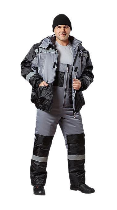 Костюм рабочий АВАНГАРД-СПЕЦОДЕЖДАКостюмы<br>Тип: куртка с полукомбинезоном,<br>Размер: 88-92/170-176,<br>Пол: мужской,<br>Сезон: зима,<br>Материал: полиэфир, смесовая ткань,<br>Плотность ткани: 210,<br>Цвет костюма: серый,<br>Вид утеплителя: Синтепон,<br>Вес нетто: 1.99<br>