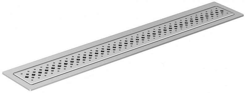 Решётка ViegaСистемы водотведения<br>Тип: решетка,<br>Ширина: 70,<br>Длина (мм): 800,<br>Монтаж: пристенный,<br>Материал: нерж.сталь,<br>Форма: прямоугольная<br>