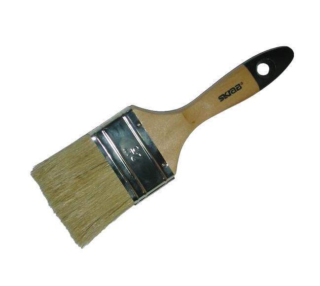 Кисть флейцевая SkrabКисти малярные<br>Тип кисти: плоская,<br>Щетина: натуральная,<br>Толщина: 38,<br>Ширина: 38,<br>Материал рукоятки: древесина<br>