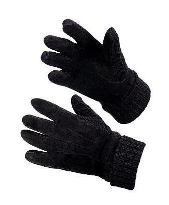 Перчатки утепленные Deqing xiongyan leaherПерчатки и рукавицы<br>Тип: перчатки,<br>Тип перчаток: комби,<br>Размер: 22,<br>Зимние: есть,<br>Цвет: черный<br>