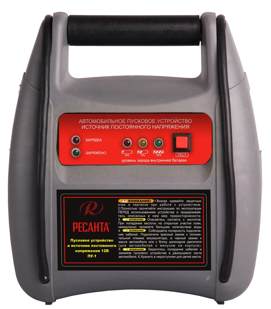 Устройство пусковое РЕСАНТАЗарядные и пуско-зарядные устройства<br>Выходной ток пуска: 250, Пиковый выходной ток: 250, Емкость аккумулятора: 7, Назначение зарядного устройства: пусковое, Напряжение аккумулятора: 12, Вес нетто: 4<br>