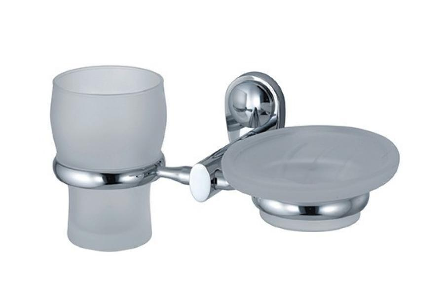 Держатель WasserkraftДержатели для ванной комнаты<br>Назначение: для стакана,<br>Цвет покрытия: хром,<br>Материал: металл,<br>Способ крепления: на стену,<br>Высота: 100,<br>Ширина: 230,<br>Глубина: 105<br>
