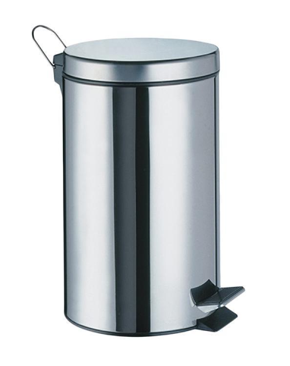 Ведро WasserkraftАксессуары для ванной комнаты<br>Назначение аксессуара: ведро для мусора, Материал: металл, Высота: 23, Ширина: 210, Глубина: 170<br>