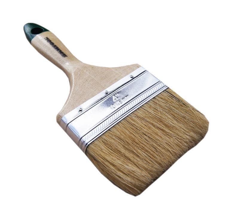 Кисть плоская SantoolКисти малярные<br>Тип кисти: плоская,<br>Щетина: натуральная,<br>Материал рукоятки: древесина<br>