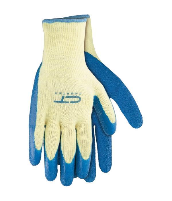 Перчатки ХБ СИБРТЕХПерчатки и рукавицы<br>Тип: перчатки, Тип перчаток: латексные, Пол: унисекс, Размер: 8 (M), Цвет: белый/синий<br>
