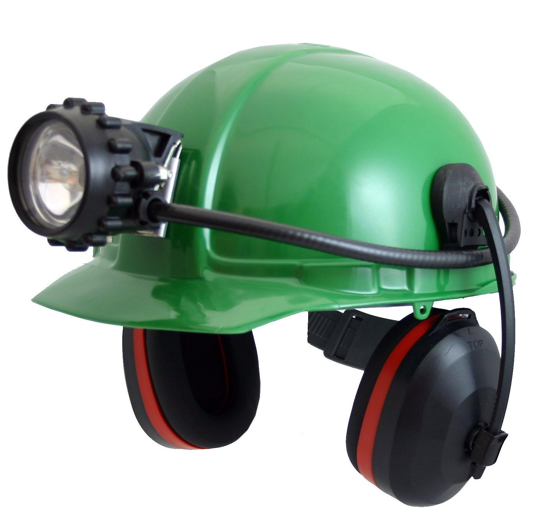 Каска оборудована металлическим адаптером и пластиковым фиксатором для крепления шахтерского фонаря и... Каска с...