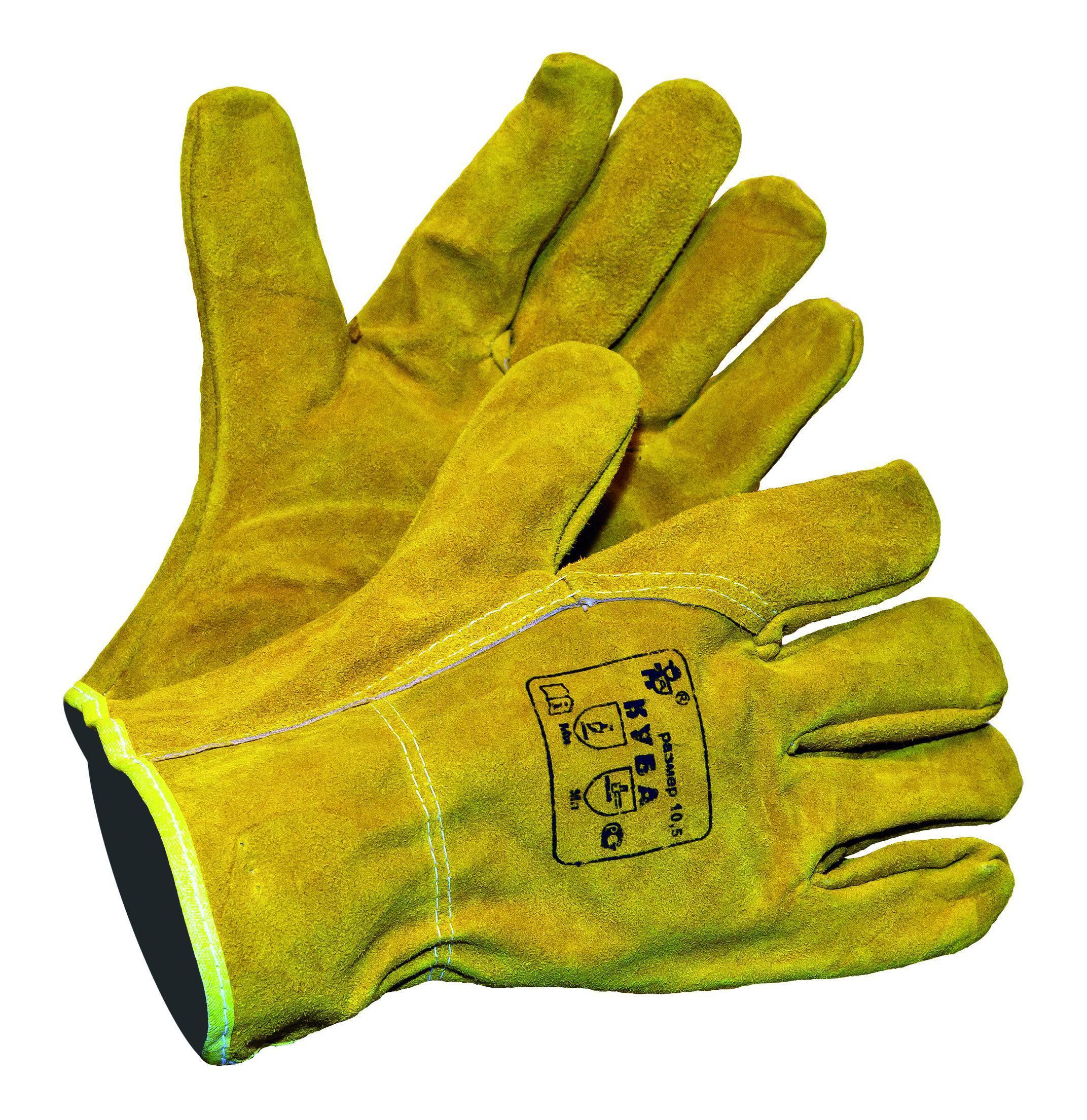 Перчатки AmparoПерчатки и рукавицы<br>Тип: перчатки,<br>Тип перчаток: спилковые,<br>Пол: унисекс,<br>Размер: 10.5,<br>Цвет: желтый<br>
