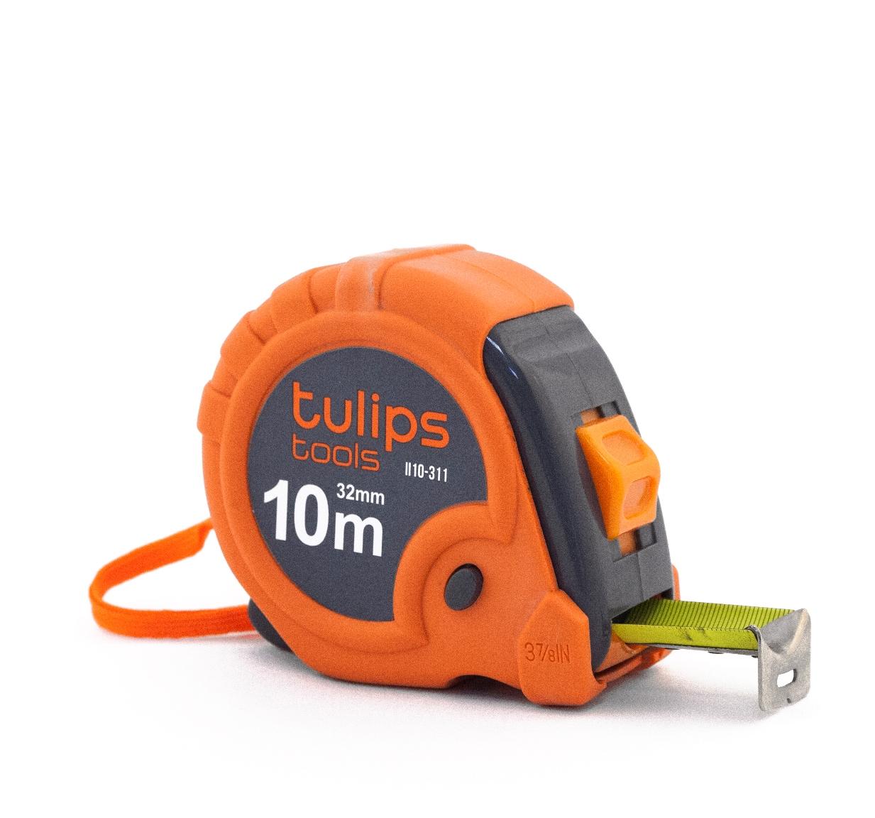 Рулетка Tulips toolsРулетки<br>Длина (м): 10,<br>Ширина: 32,<br>Тип рулетки: рулетка<br>