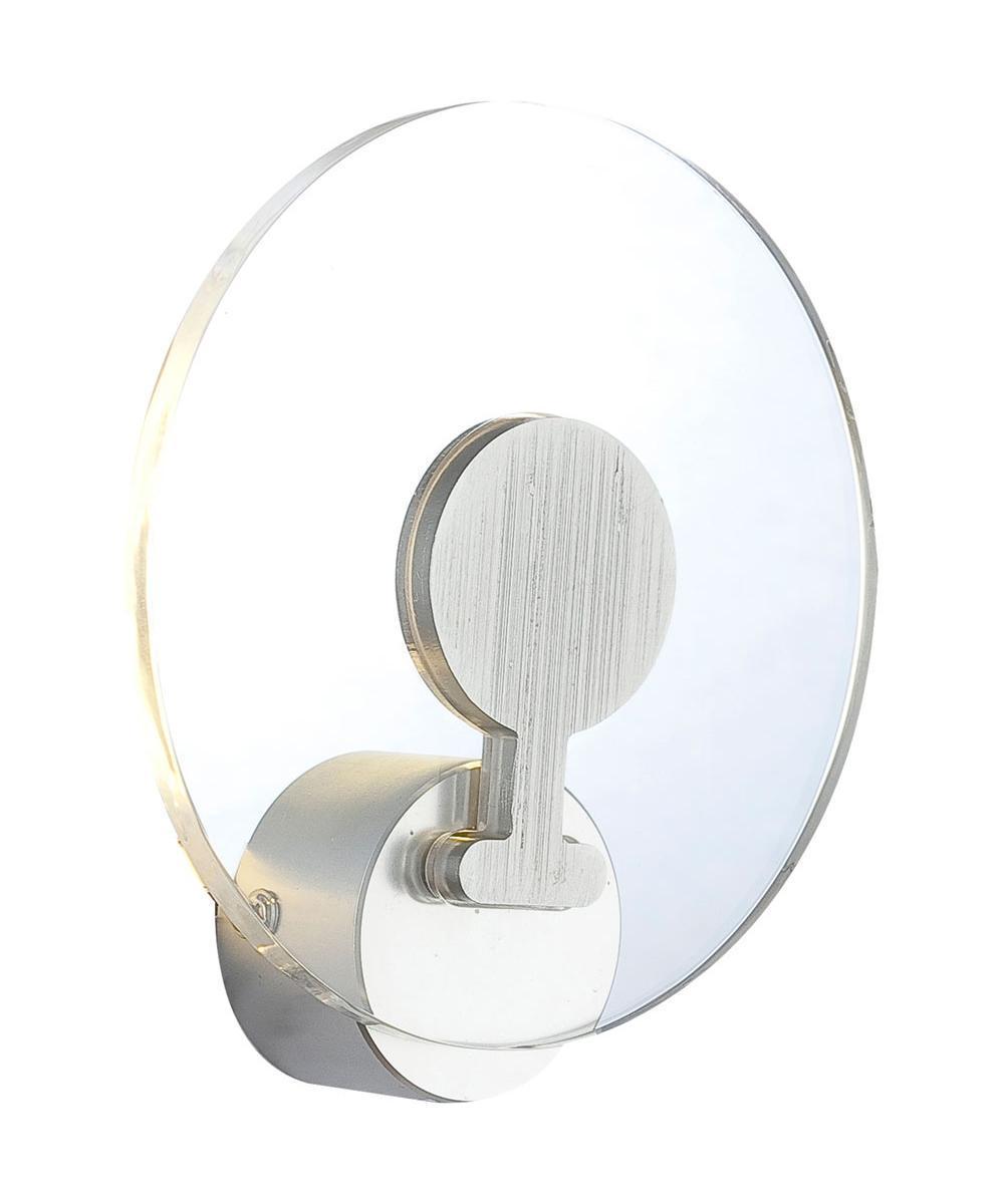 Бра GloboНастенные светильники и бра<br>Тип: настенный, Назначение светильника: для комнаты, Стиль светильника: модерн, Материал светильника: металл, стекло, Тип лампы: светодиодная, Количество ламп: 1, Мощность: 3.6, Патрон: LED, Цвет арматуры: алюминий, Длина (мм): 5, Ширина: 150, Высота: 160, Коллекция: fanny<br>