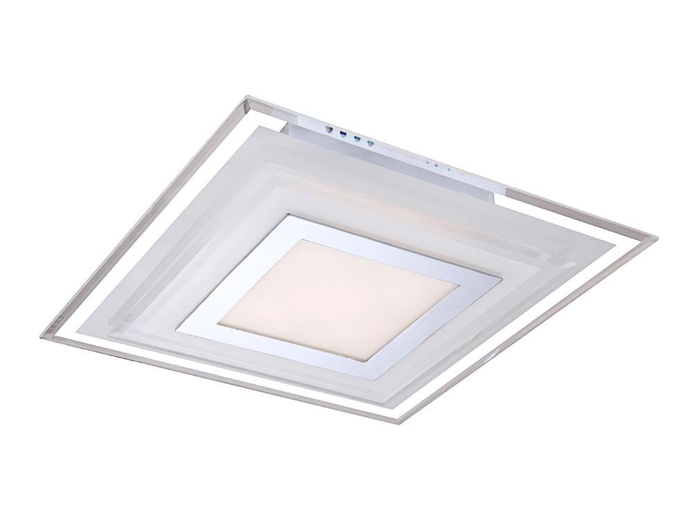 Светильник настенно-потолочный Globo - Globo - GloboСветильники настенно-потолочные<br>Мощность: 7.2,<br>Количество ламп: 1,<br>Назначение светильника: для комнаты,<br>Стиль светильника: модерн,<br>Материал светильника: металл, стекло,<br>Тип лампы: светодиодная,<br>Длина (мм): 300,<br>Ширина: 300,<br>Высота: 65,<br>Патрон: LED,<br>Цвет арматуры: хром,<br>Вес нетто: 2<br>