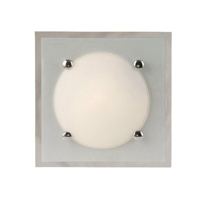 Светильник настенно-потолочный GloboСветильники настенно-потолочные<br>Мощность: 40,<br>Количество ламп: 1,<br>Назначение светильника: для комнаты,<br>Стиль светильника: модерн,<br>Материал светильника: металл, стекло,<br>Тип лампы: накаливания,<br>Длина (мм): 85,<br>Ширина: 220,<br>Высота: 220,<br>Патрон: Е14,<br>Цвет арматуры: хром,<br>Вес нетто: 0.7<br>