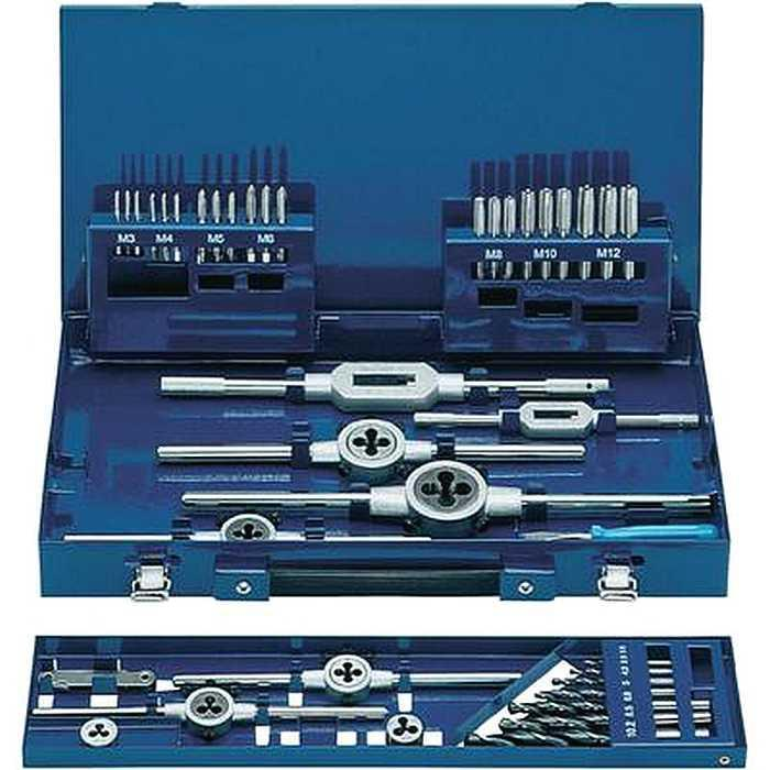 Набор ExactРезьбонарезной инструмент<br>Тип: набор комбинированный,<br>Количество предметов в наборе: 42,<br>Тип резьбы: метрическая<br>