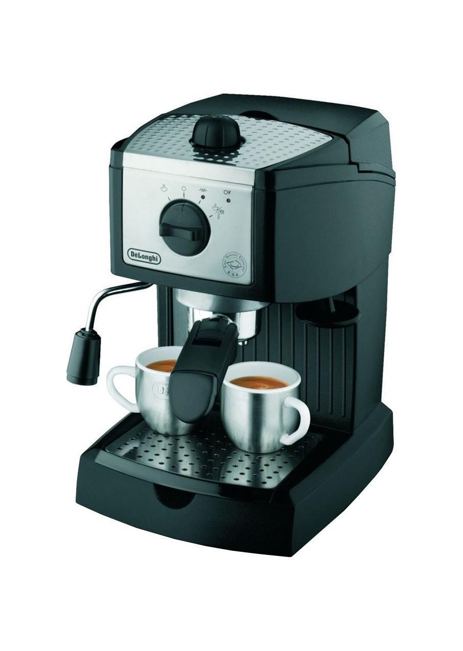 Кофеварка DelonghiКофеварки<br>Тип: эспрессо,<br>Тип используемого кофе: молотый,<br>Мощность: 1100,<br>Объем резервуара для воды: 1,<br>Макс. давление: 15<br>