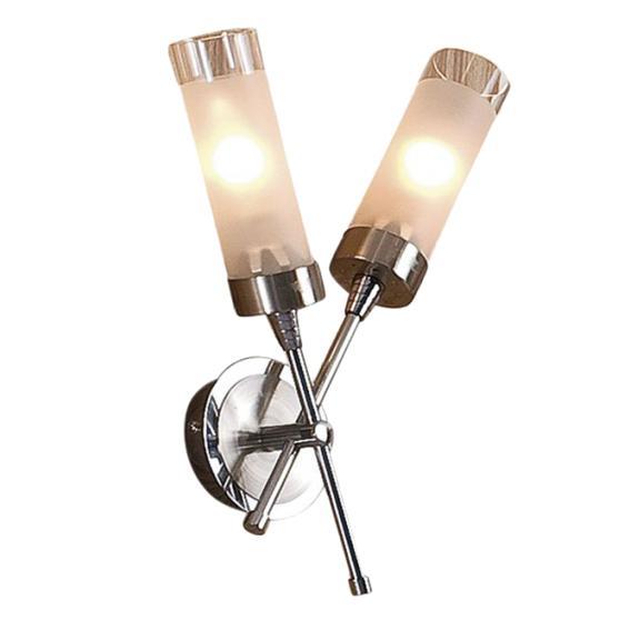 Бра CitiluxНастенные светильники и бра<br>Тип: настенный,<br>Назначение светильника: для комнаты,<br>Стиль светильника: модерн,<br>Материал светильника: металл, стекло,<br>Тип лампы: накаливания,<br>Количество ламп: 2,<br>Мощность: 60,<br>Патрон: Е14,<br>Цвет арматуры: серебристый,<br>Длина (мм): 150,<br>Ширина: 250,<br>Высота: 350,<br>Диаметр: 250<br>