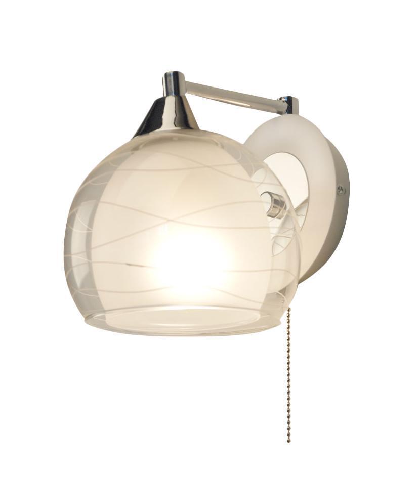 Бра CitiluxНастенные светильники и бра<br>Тип: бра,<br>Назначение светильника: для комнаты,<br>Стиль светильника: модерн,<br>Материал светильника: металл, стекло,<br>Тип лампы: накаливания,<br>Количество ламп: 1,<br>Мощность: 75,<br>Патрон: Е27,<br>Цвет арматуры: серебристый,<br>Длина (мм): 290,<br>Ширина: 145,<br>Высота: 160,<br>Диаметр: 145<br>